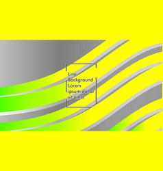 Abstract wave background with green and yellow vector