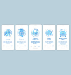 accommodation booking onboarding mobile app page vector image