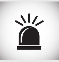 Alarm flasher on white background vector