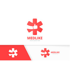 Ambulance and like logo combination medic vector
