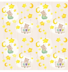 Baby bear seamless pattern vector
