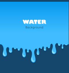 Background of dribble blue liquid vector