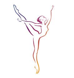ballerinas silhouettes vector image