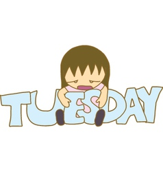 Boring Tuesday vector