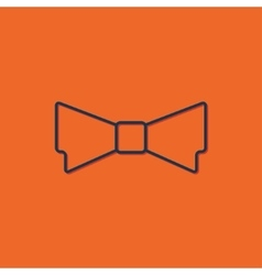 bow-tie icon vector image