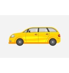 Car hatchback side view vector image