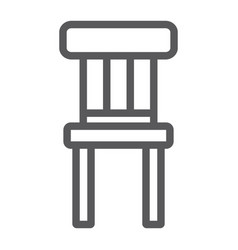chair line icon furniture and home stool sign vector image