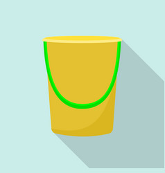 cleaning house bucket icon flat style vector image