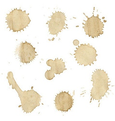 Coffee stains collection vector
