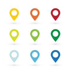 color map pin vector image