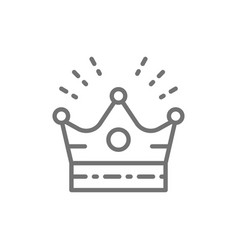 crown head accessory for celebration line icon vector image