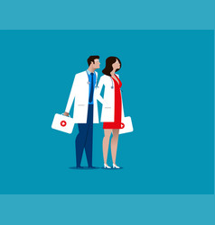 doctor hospital workers concept medical vector image