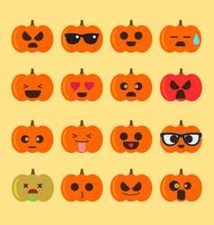 Emoji halloween pumpkin vector