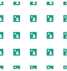 Favorite photo icon pattern seamless white vector