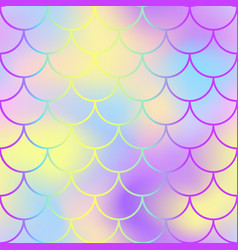 fish scale pattern with active color mesh vector image