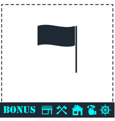 flag icon flat vector image