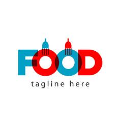 Food logo letter template design vector
