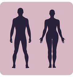 Full length front human silhouette set vector