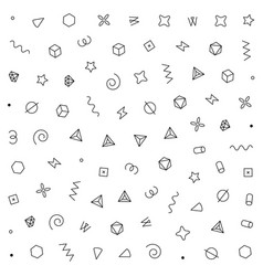 geometric pattern with geometric elements vector image