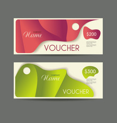 gift voucher template with retro design vector image