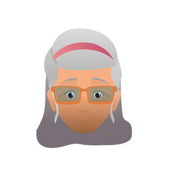 Grandmother elder person glasses vector