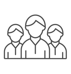 Group of people thin line icon team vector