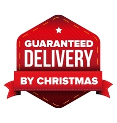 Guaranteed Delivery by Christmas vector