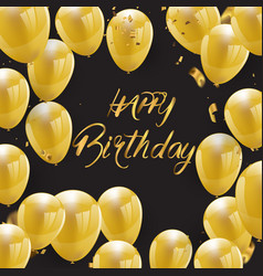 happy birthday greeting card version design vector image
