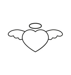 Heart with nimbus icon vector