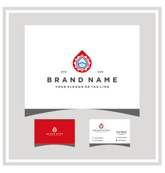 Home gear water logo design and business card vector
