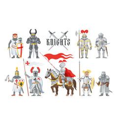 Knight medieval knighthood and knightly vector