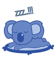 Koala sleep vector