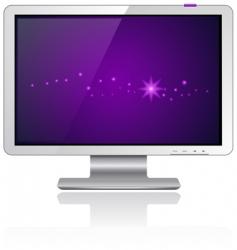 LCD monitor vector image