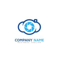lens cloud logo icon design vector image