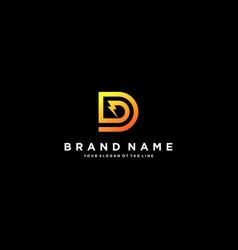 Letter d flash electrical logo design vector
