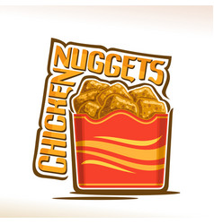 Logo for crispy chicken nuggets vector