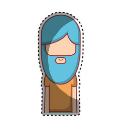 Man with beard and hairstyle icon vector