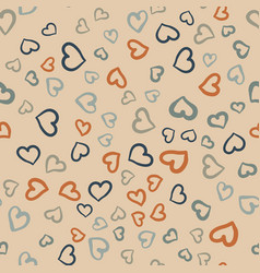 many hearts seamless tile valentines day vector image vector image