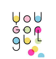 motivational and inspirational slogan you go girl vector image