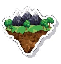 mountain landscape isometric icon vector image