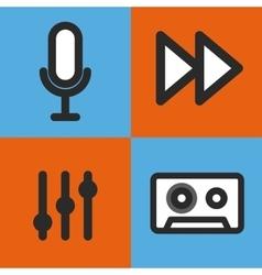 Music set icons design vector