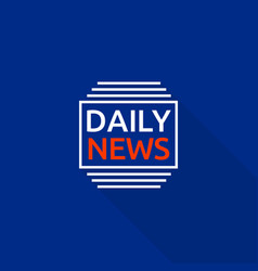 new daily news logo flat style vector image