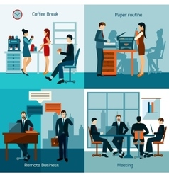 Office Workers Set vector