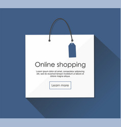 Online shopping with package web banner vector