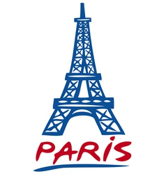 Paris Eiffel tower design vector