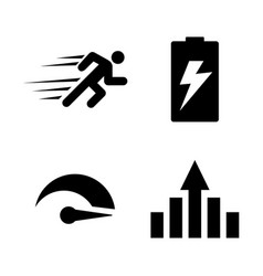 performance improvement simple related icons vector image