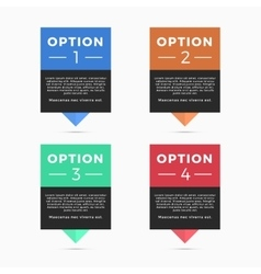 Pointers labels graphics four color vector image