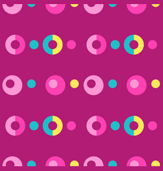 Pop up bubbles symmetry seamless pattern vector