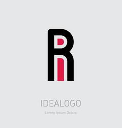 R and i initial logo ri initial monogram logotype vector