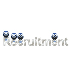 Recruitment vector image